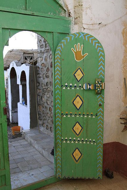 Door of Nubian Village Home, Aswan by shashin62 on Flickr