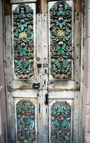 Lovely door in San Miguel de Allende, Guanajuato #Mexico