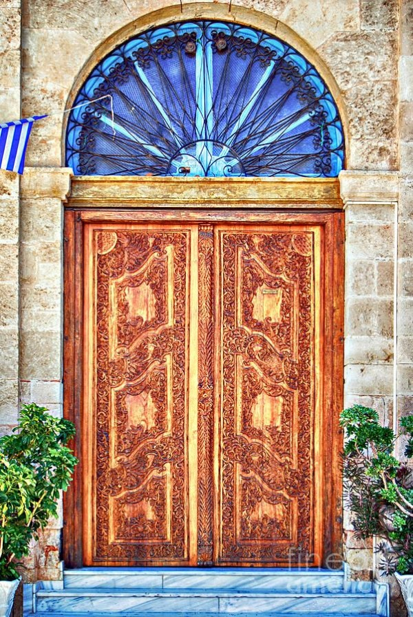 Ornate Wooden Door Crete, Greece (By Anthony McAulay)